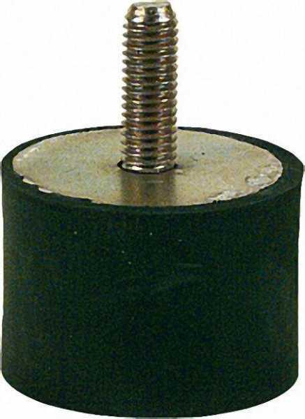 Gummifeder Typ B 40 x 30mm, AG M 8 x 23mm IG 7mm