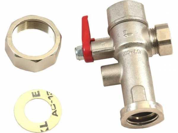 WOLF 2400501 Absperrarmatur 1'Rücklauf ohneThermometer