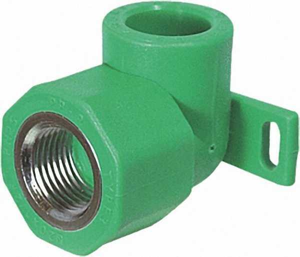 PPR Rohr Aqua-Plus Wandanschlusswinkel 90° PN25 20mmx1/2''
