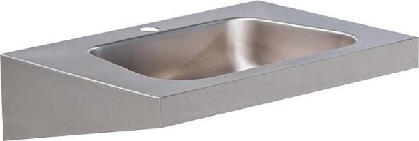 Waschtisch aus Edelstahl mit Hahnloch d=35 mm, 600 x 420 mm