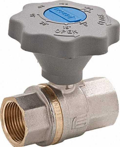 Kugelhahn 1''PN 16 DVGW geprüft für Wasser mit Sanftschlußgriff