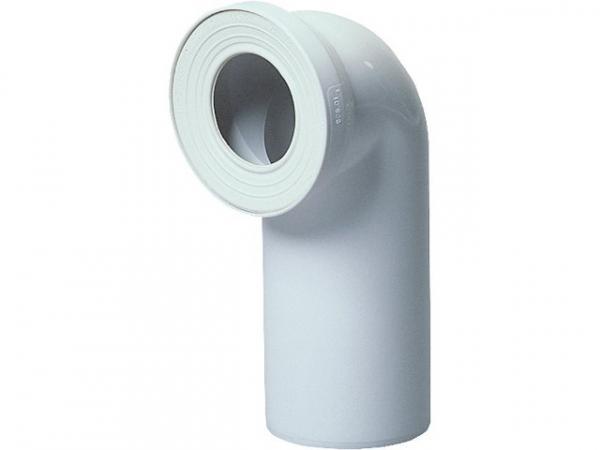 WC-Anschlussstück DN100 90°, weiß