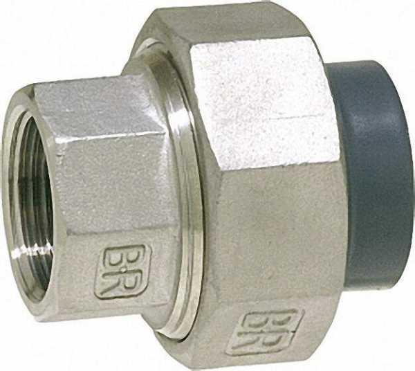 PVC-U - Klebefitting Rohrverschraubung PVC-U/V2A, 63mm x 2'', IG