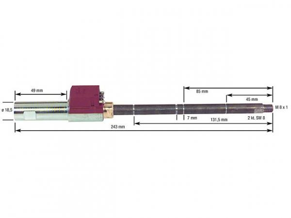 Ölvorwärmer für Hofamat- K 40/60 heizbarer Düsenstock komplett mit FPHB 5 30-110 Watt