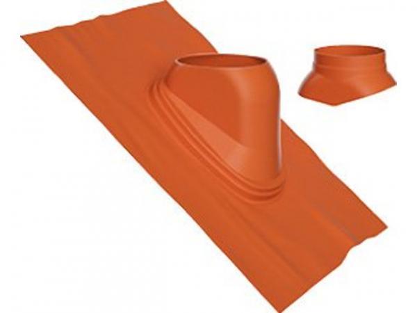 Buderus Universal-Dachziegel, Ø 125 mm, 35 °–55 °, rot, Regenkappe, 7738112514