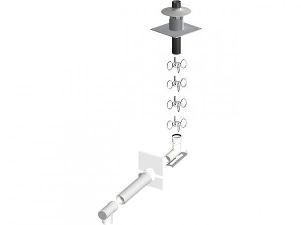 Kunststoff-Abgassystem (raumluftunabhängig) Basis Set 1 - 60/100