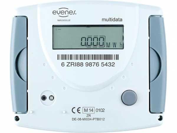 Splitwärmezähler Evenes Durchfl. 3,5m³/h, 1 1/4'x150mm Steigrohr, inkl. Eichgebühr