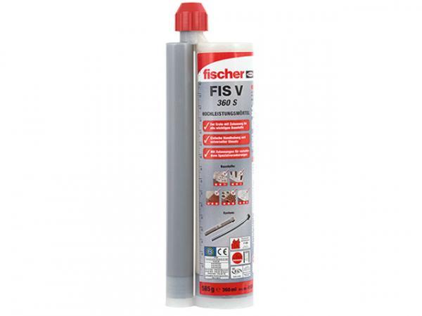 Fischer 41834 Hochleistungsmörtel FIS V 360 S zur spreizfreien Verankerung inklusive 2 Statikmischer VPE 1 Stück