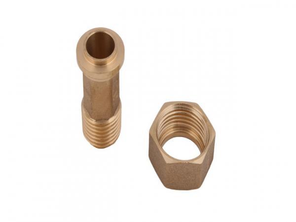 SCHLÖSSER Wasserzähler-Verschraubung ohne Plombiervorrichtung, Oberfläche: Messing