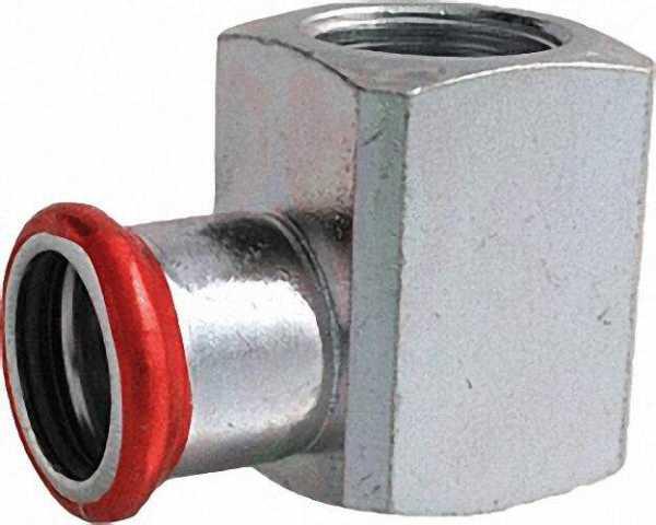 C-Stahl Pressfitting Übergangswinkel 90° mit IG 18mm x1/2''