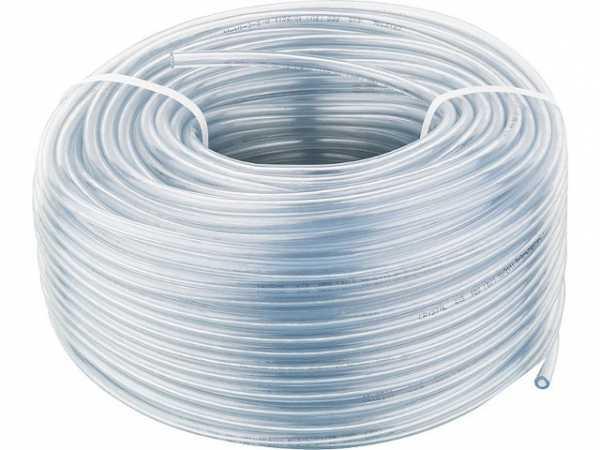PVC-Schlauch glasklar (Ring mit 100m) Einsatz als Saugleitung bei Vakuum-Leck- anzeigegeräten