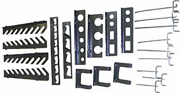 Werkzeughaltersortiment 22tlg. für Eurolochung und Löchwände