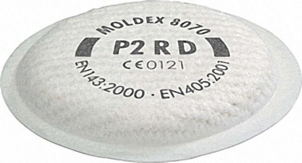 Partikelfilter P2 R D für Maskenkörper Serie 8000 VPE 4 Paar