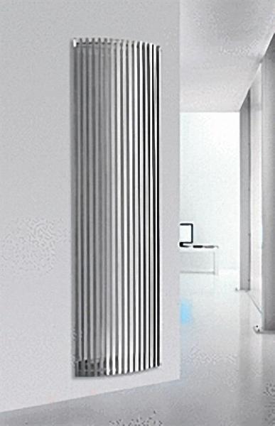 Design-Wohnraum-Heizkörper Espero - aluminium grau H x L = 2000 x 557mm