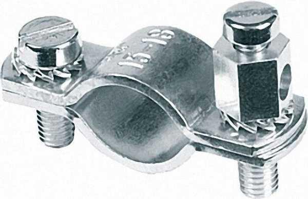 Erdungsschelle Kupferband 3/8'' (15-18mm) 1 Beutel 10 Stück