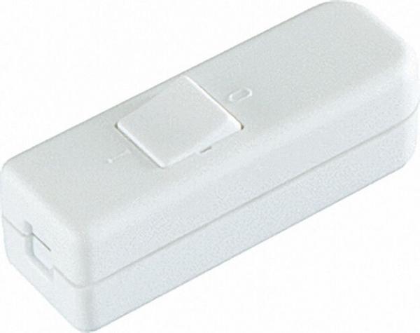 Wipp-Zwischenschalter 1 polig +PE, VDE weiß 1 Stück