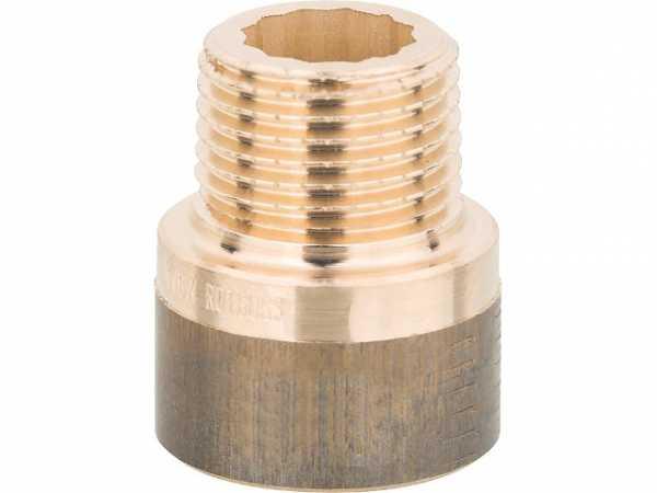 Rotguß-Gewindefitting Hahnverlängerung , 1/2''x17,5mm (I/A)