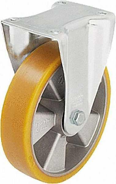 BLICKLE Schwerlastbockrolle Polyurethan/Stahl BH-ALTH 160K, Tragfähigkeit 550 kg Rad D= 160mm, Platt