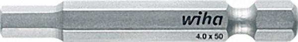 WIHA Standard-Bit, Sechskant, Form E 6, 3. Typ 7043 Z 2,0x 50