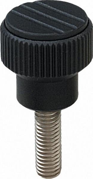Rändelknopf mit Aussengewinde M 6 x 20