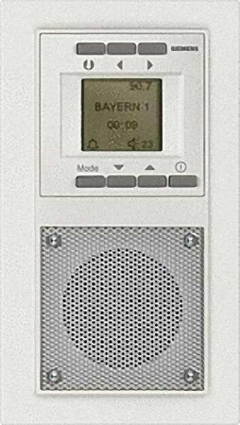 Unterputz-Radio carbonmetallic IP 20