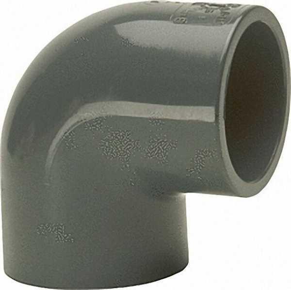 PVC-U - Klebefitting Winkel 90°, 40mm, beidseitig Klebemuffe