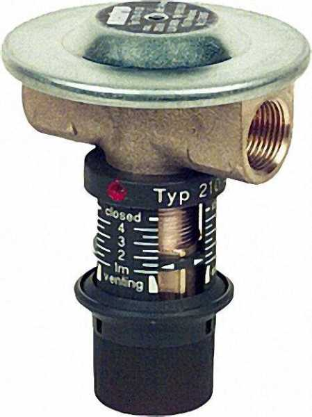 Verstellbares Membran-Antiheberventil Oventrop ''Oilstop V'' 1-4m 210 42 03