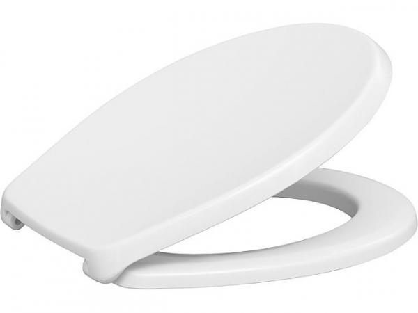 WC-Sitz Nemo, weiß, Duroplast, Bügelscharniere Edelstahl, BxHxT 383x49x460mm