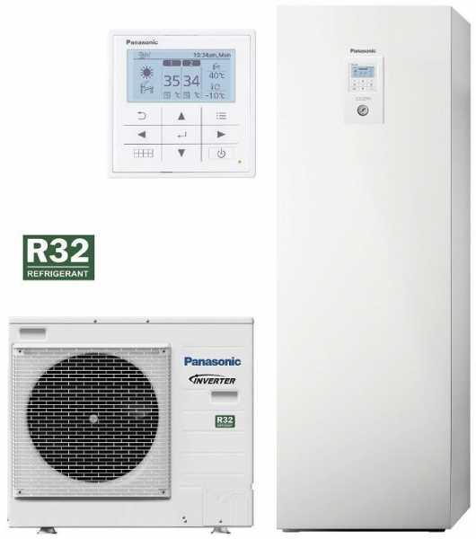 Panasonic Aquarea LT Wärmepumpe Split mit Kombi-Hydromodul, 9,0kW, 230V, KIT-ADC09JE5-1