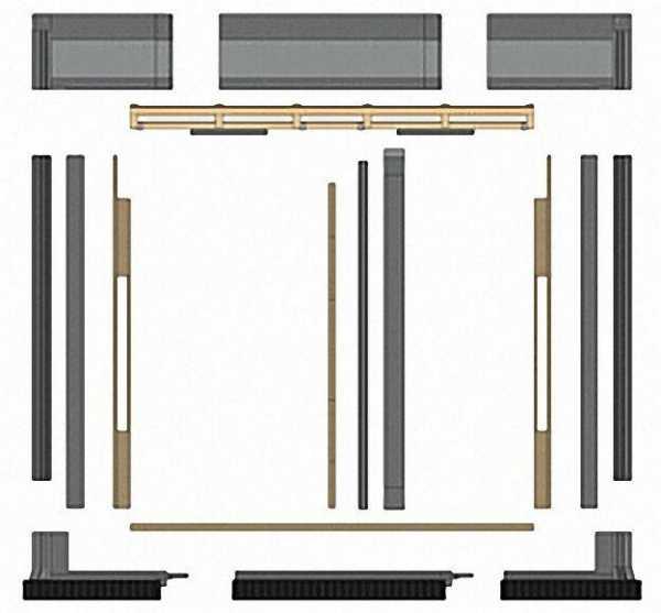 Indach-Grundbausatz für 2 SX 2,85-Kollektoren
