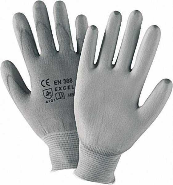 Arbeitshandschuh für Montage, Nylon grau, Größe L