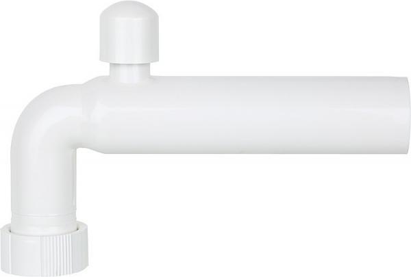 Abgangsbogen PP weiß 1 1/2'' x 40 x 220mm mit Rohrbelüfter