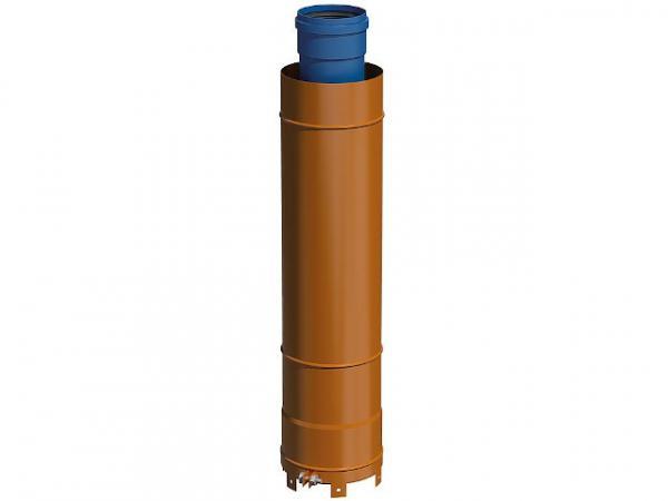 CondensBlue AZ Überdach- verlängerung schwarz, 500mm DN 60/100 und DN 80/125