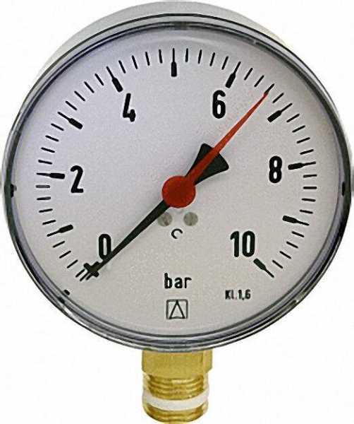 Manometer RF 80 1/2'' 0-10bar Anschluss radial