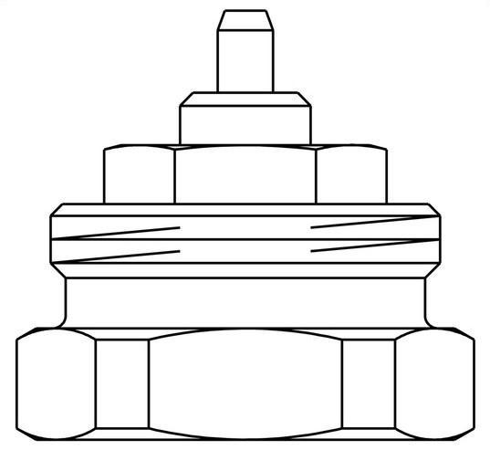 Oventrop 1011445 Adapter für Umrüstung von Gewindeanschluss M30 x 1.0 auf M30 x 1.5