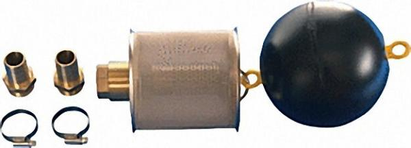 Schwimmfilter 1'' mit Edelstahl- feinfilter 0, 230mm mit RV