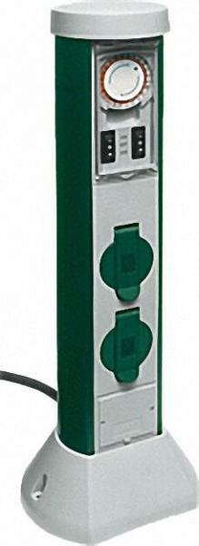 GC Zeitschaltuhr-Steckdose 10m Zuleitung / IP44 Höhe: ca. 500mm