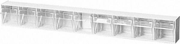 Sichtlagerkasten transparent 9 - fach