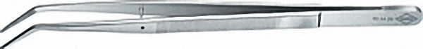 KNIPEX 923436 Präzisions Pinzetten gewinkelte Spitzen vernickelt