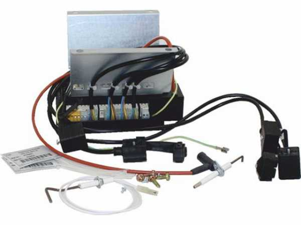 WOLF 8887318 Umbausatz Gasfeuerungsautomat auf LMK52für NG-31E-70(ersetzt Art.-Nr. 2744281, 8902455,2796206)
