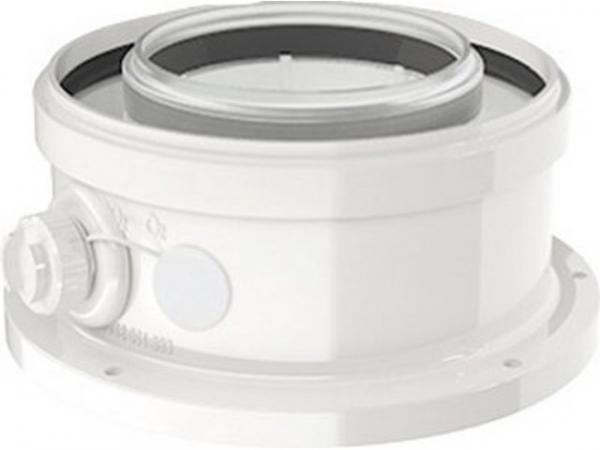 Buderus Kesselanschlussstück, konzentrisch, Ø 80/125 mm, Metall, 7738112715
