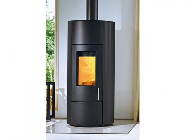 Buderus Kaminofen CEO water+, 8 kW, Seitenverkleidung black, Stahl black, rlu, 7736601183