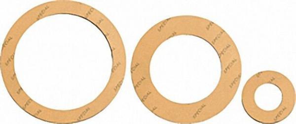 Spezial-Flanschdichtung DN=80 PN=10/16/40 90 x 142mm 2mm stark/ gelb