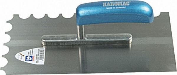 Glättekelle 8x8 gezahnt 280mm Stahl, gehärtet blaues Heft
