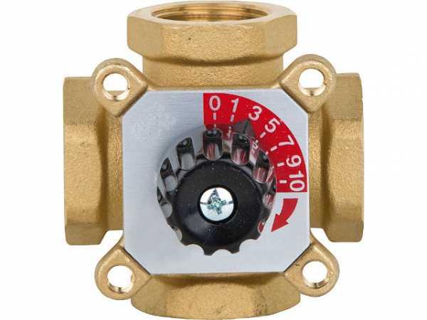 4-Wegemischer Easyflow Mix 450 DN15(1/2')IG, KV2,5, Messing