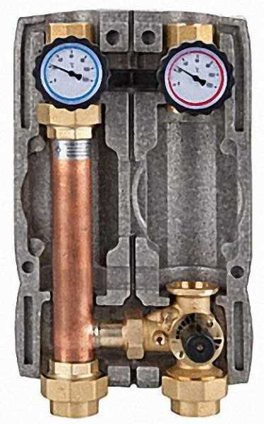 EVENES Easyflow Heizkreisset DN32 (1 1/4''), mit Dreiwegemischer, ohne Pumpe