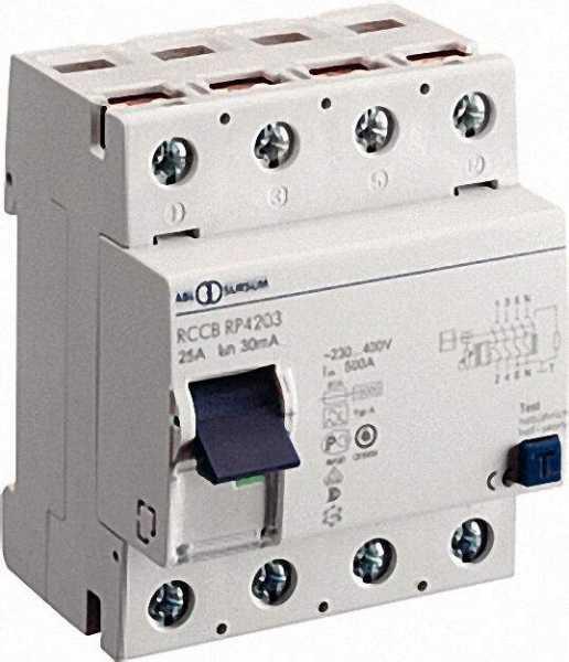 ABL-Fehlerschutzstromschalter vierpolig 25A / 30mA
