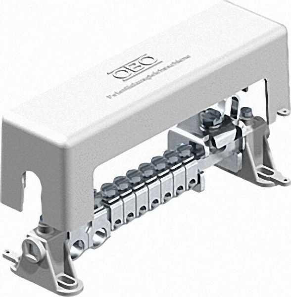 Potentialausgleichsschiene für Innenbereich Typ 1801 VDE, grau