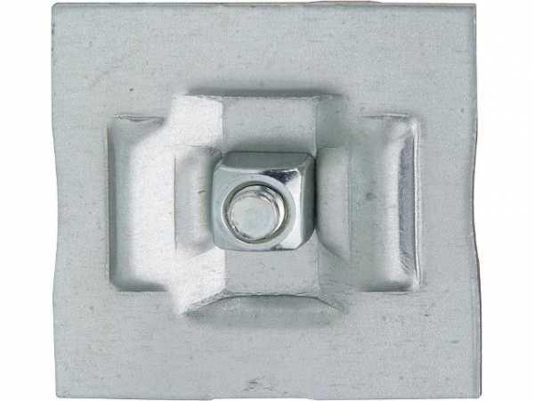 Klemmhalter Typ 10-5170 für Röhren- Schmalsäuler verzinkt weiß lackiert