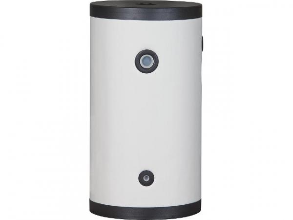 Warmwasserspeicher mit Wärmetauscher, horizontale oder vertikale Montage, Edelstahl 200 L